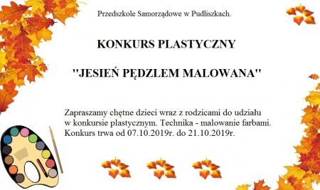 Konkurs plastyczny ,,Jesień pędzlem malowana.''